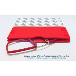 Gafas de Lectura con Funda Adhesiva de Silicona Rosa