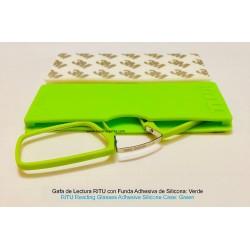 Gafas de Lectura RiTU con Funda Adhesiva de Silicona Verde